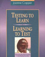 Cover of: Testing to learn--learning to test