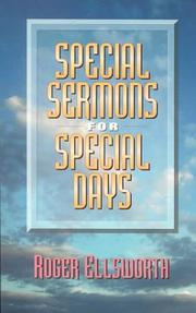 Cover of: Special sermons for special days | Roger Ellsworth
