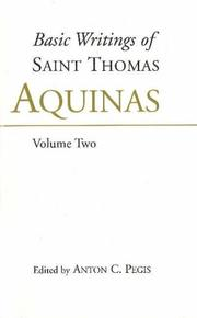 Cover of: Basic writings of Saint Thomas Aquinas