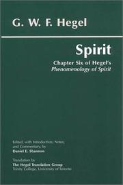 Cover of: Spirit: Chapter Six of Hegel's Phenomenology of Spirit