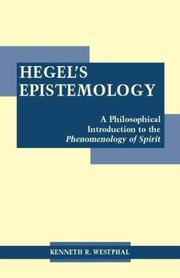 Cover of: Hegel