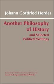 Cover of: Another Philosophy of History and Selected Political Writings