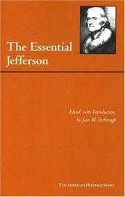 Cover of: The essential Jefferson