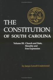 Cover of: The Constitution of South Carolina, Vol. 3