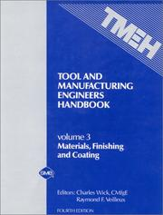 Cover of: Tool and Manufacturing Engineers Handbook