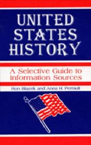 Cover of: United States history