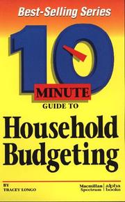 Cover of: 10 Minute Guide to Household Budgeting (10 Minute Guides) | Tracey Longo