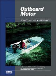 Cover of: Outboard Motor Service Manual |