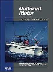 Cover of: Outboard motor service manual. |