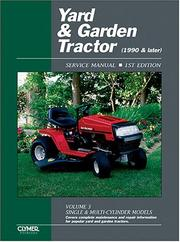 Cover of: Yard & Garden Tractor Service Manual: 1990 & Later