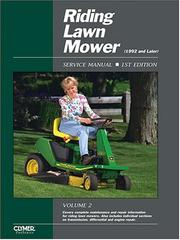 Cover of: Riding Lawn Mower Service Manual