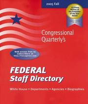 Cover of: Federal Staff Directory, Fall 2005