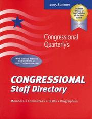 Cover of: Congressional Staff Directory, Summer 2005 (Congressional Staff Directory  Summer)