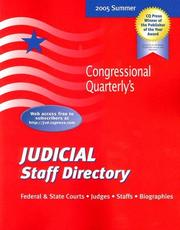 Cover of: Judicial Staff Directory Summer 2005