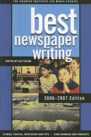 Cover of: Best Newspaper Writing 2006-2007