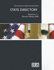 Cover of: Elective Officials 2005 | Council of State Government