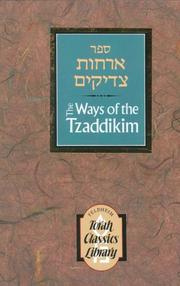 Cover of: Ways of the Tzaddikim