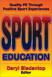 Cover of: Sport education