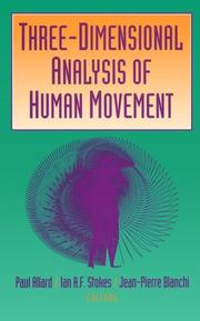 Cover of: Three-dimensional analysis of human movement