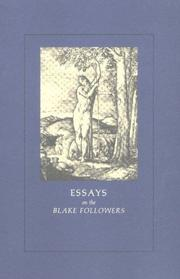 Cover of: Essays on the Blake Followers |