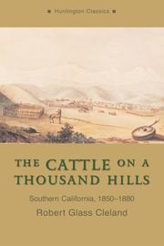 Cover of: The Cattle on a Thousand Hills | Robert Glass Cleland