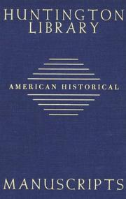 Cover of: Guide to American Historical Manuscripts in the Huntington Library