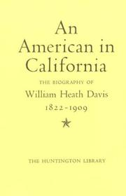 Cover of: An American in California