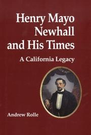 Cover of: Henry Mayo Newhall and his times
