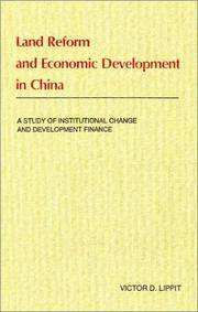 Cover of: Land reform and economic development in China