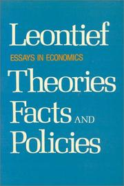 Cover of: Essays in economics