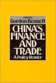 Cover of: China's finance and trade | Gordon Bennett, editor.