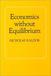 Cover of: Economics without equilibrium