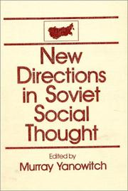 Cover of: New directions in Soviet social thought |