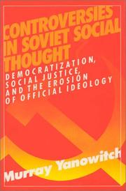 Cover of: Controversies in Soviet Social Thought