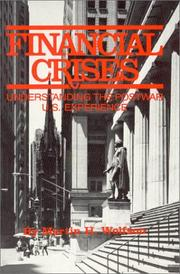 Cover of: Financial Crisis | Martin H. Wolfson