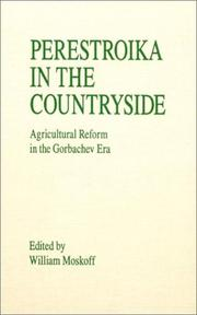 Cover of: Perestroika in the Countryside | William Moskoff