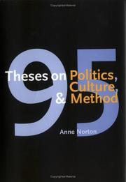 Cover of: 95 Theses on Politics, Culture, and Method | Anne Norton
