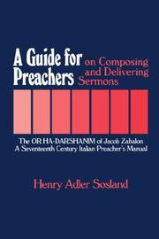 Cover of: A Guide for Preachers on Composing and Delivering Sermons