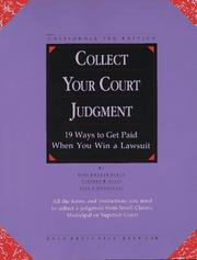 Cover of: Collect your court judgment | Gini Graham Scott