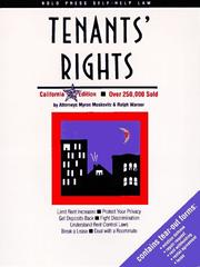 Cover of: Tenants' rights | Myron Moskovitz