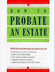 How to probate an estate by Julia P. Nissley