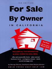 Cover of: For sale by owner in California | George Devine