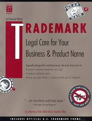 Cover of: Trademark | Kate McGrath
