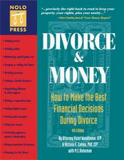 Cover of: Divorce and money
