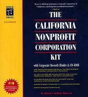 Cover of: The California nonprofit corporation kit