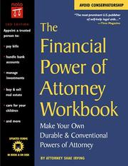 Cover of: The Financial Power of Attorney Workbook