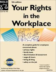 Cover of: Your rights in the workplace | Barbara Kate Repa