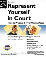Cover of: Represent yourself in court | Paul Bergman