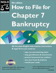 Cover of: How to file for chapter 7 bankruptcy |