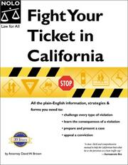 Cover of: Fight your ticket in California